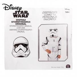 Disney Star War Imperial Stormtrooper Costume For The 14-year-old Boys And Up W/1 PC Mask White/One Size