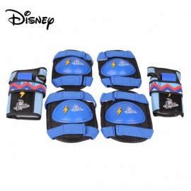 Disney Soy Luna Lightening Print Protective Gear Set For Children W/Knee,Elbow And Wrist Guards Pads Blue/15-30cm