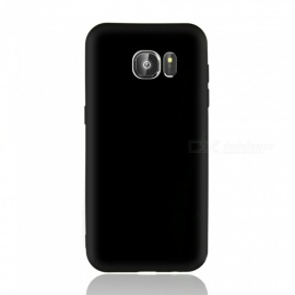 Dayspirit Protective Matte Frosted TPU Back Case for Samsung Galaxy S7 edge - Black