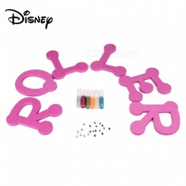 Disney Soy Luna DIY Design Your Quote (ROLLER)for Children W/6PCS Glitter Markers,20 PCS Gems Purple