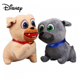 2PCS Disney 30cm Puppy Dog Pals Plush Toys For Children, Cute Disney Toy Dogs For Kids - Black + Khaki 11cm-30cm/Gray