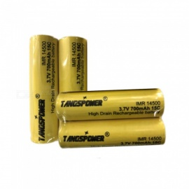 New Original 14500 3.7 v 700 mah 14500 Lithium Rechargeable Battery For Flashlight Batteries