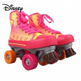 Disney Soy Luna Patines Light Up Roller Skates For Girls W/PC Charging Cable- Talla 34 Red