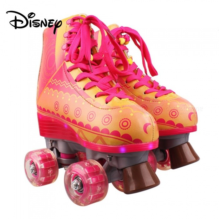 Disney Soy Luna Patines 3.0 Light Up Roller Skates For Girls W/Charging Cable- Talla 32 Yellow