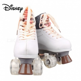 Disney Soy Luna Patines 2.0 Two-tone Light Up Skate Shoes For Girls W/ Charging Cable - Talla 34 White