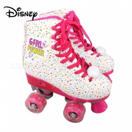 Disney Soy Luna Patines 2.0 Girl Power Light Up Roller Skates For Girls W/ Charging Cable - Talla 34 White
