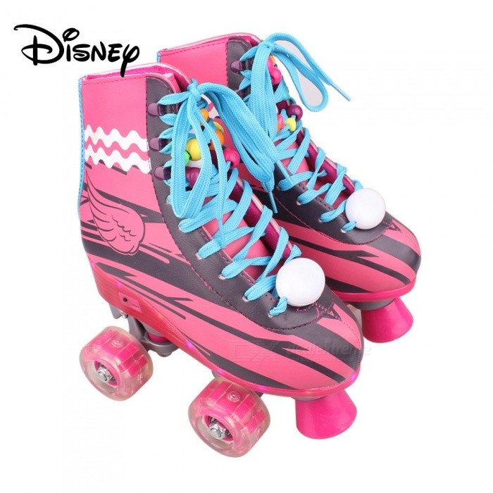 Disney-Soy-Luna-Patines-20-Light-Up-Roller-Skates-For-Girls-W-Charging-Cable-Talla-38-Red