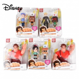 Disney Ralph Breaks The Internet Wir2 Figure Assortment Kids Anime Toys Set For Children Gifts Black