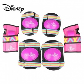 Disney Knee Pad Elastic Strap For Kids Riding Skating Scooter Elbow Wrist Knee Guard Protector Set Purple