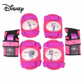 Disney Vampiric Print Knee Pad Elastic Strap For Kids Riding Skating Scooter Elbow Wrist Knee Guard Protector Set Purple