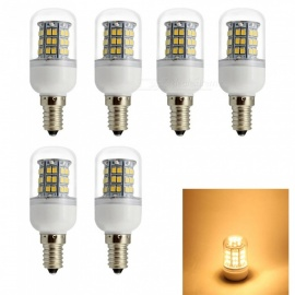 HONSCO 6PCS E14 6W 85-265V  220V 110V LED Corn Bulb Warm White Light 3000K 48-SMD
