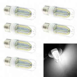 HONSCO 6PCS E27 6W 85-265V 700lm 84-SMD 2835 LED Cold White Light Bulb Constant Current Width Voltage