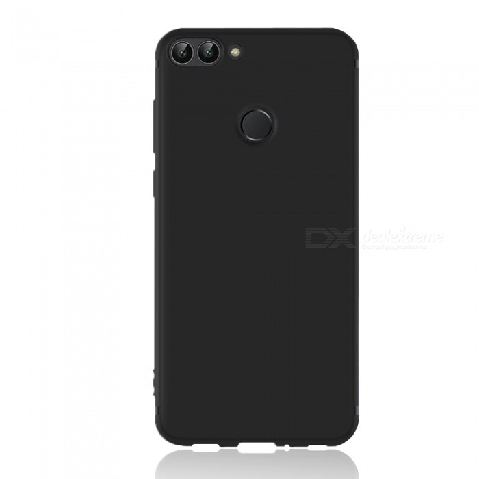Dayspirit Protective Matte Frosted TPU Back Case for Huawei P smart, Enjoy 7S - Black