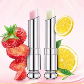 Moisturizing Lemon/ Strawberry Lip Balm For Both Men And Women, Lip Stick For Chapped And Cracked Lips Red