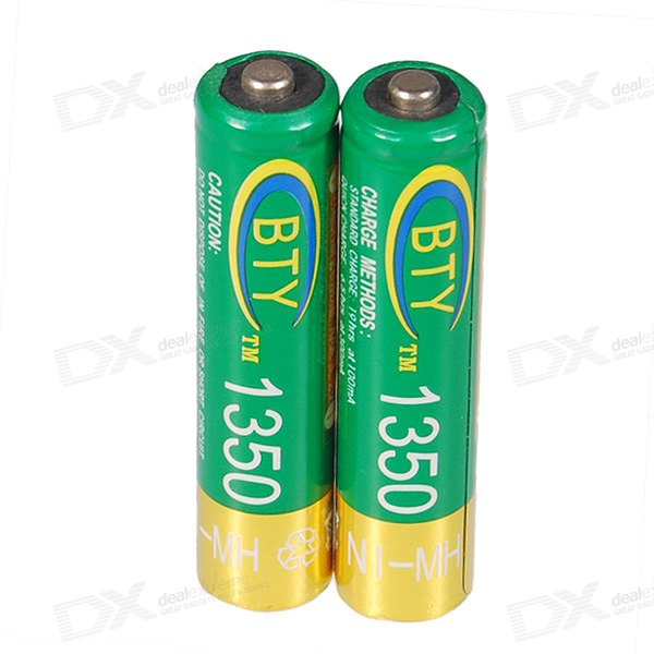 BTY 800mAh Ni-MH AAA Rechargeable Batteries 2-Pack