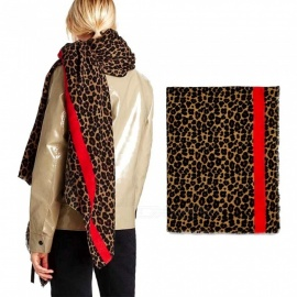 Autumn Winter Pashmina Scarf Dual Purpose Thickening Leopard Print Shawl For Women Leopard/One Size