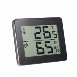 TS-E01 Multi Function Household Hygrometer And Thermometer, Humidity Gauge With Temp Display Black