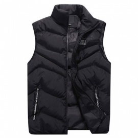 New Autumn Down Jackets Male Warm Man Thicken Down Overcoat Vests With Pocket Black/M