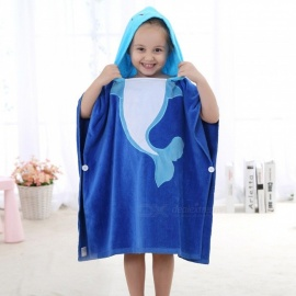 Cute Large Cartoon Hooded Cotton Towel For Children, Extra Soft Baby Bath Towel With Hood White