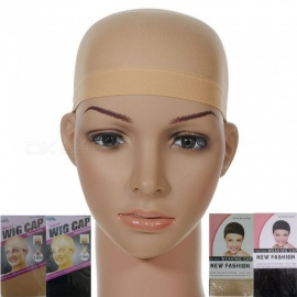 Hair Mesh Wig Cap Hair Nets Wig Liner Hairnet Snood Glueless Dome Wig Cap Stretchable Elastic Hairnets Tools Beige