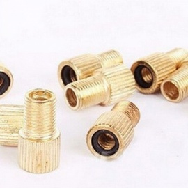5 PCS Bicycle Mountain Bike Inflating Valve Adapter France To America Type Bicycle Valve Converter Gold