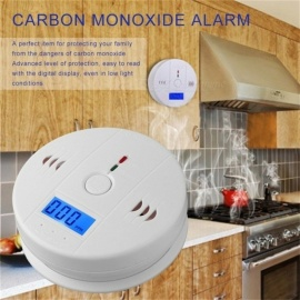 Gas Sensor Detector Carbon Monoxide Poisoning Alarm Detector LCD Photoelectric Independent 85dB Warning High Sensitive