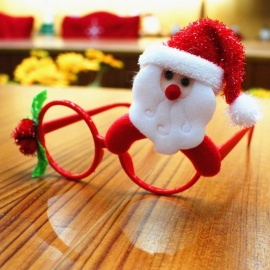Funny Christmas Ornaments Glasses Frames Evening Party Toy Kids Xmas Gifts Decor For Party Green