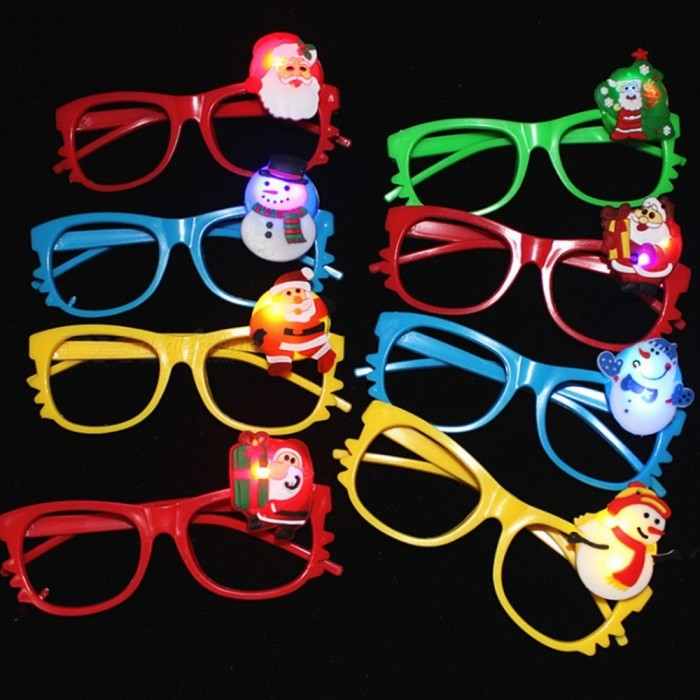 Buy Christmas Decoration Lighting Glasses Eyeglass Frame Multi Style Birthday Party Supplies Children\'s Gifts Random Color Multi with Litecoins with Free Shipping on Gipsybee.com