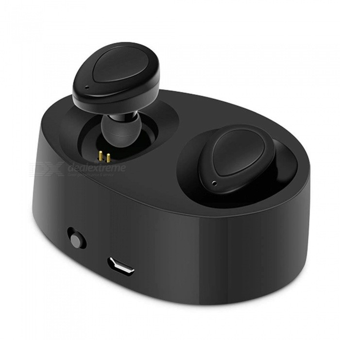 Measy K2 TWS Bluetooth Earphones True Wireless Earbuds Mini Stereo Music Headsets Hands-free With Mic Charging Box for Phones