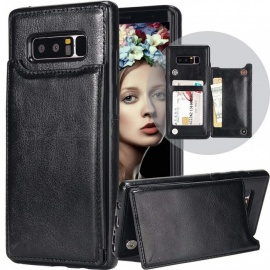 Measy PU Leather Kickstand Card Slots Case,Double Magnetic Clasp and Durable Shockproof Cover for Samsung Galaxy Note 8