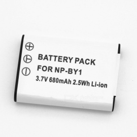 Suitable for SONY Camera Battery NP-BY1 Full Decoding 680mAh Lithium Battery White
