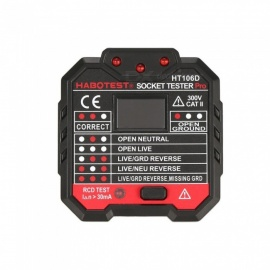 ZHAOYAO Socket Testers Voltage Test Socket Detector Ground Zero Line Plug Polarity Phase Check