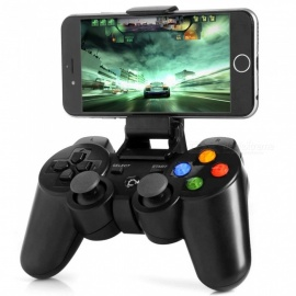 Universal Bluetooth Wireless Joystick Game Controller Gamepad For Mobiles - Black