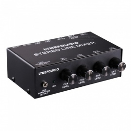 Five-channel Stereo Microphone Mixer With Earphone Monitoring