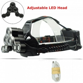 AIBBER TONE LED Headlight USB Rechargeable Frontal Flashlight 18650 Head Torch