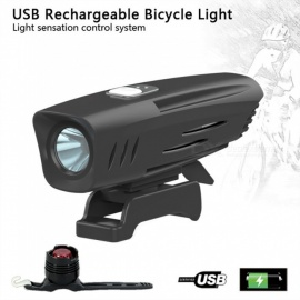 AIBBER TONE Built-in 2600mAh 18650 Battery Bike T6 LED Cycling Headlight Head Front Lights Back Safety With Bike Tail Light