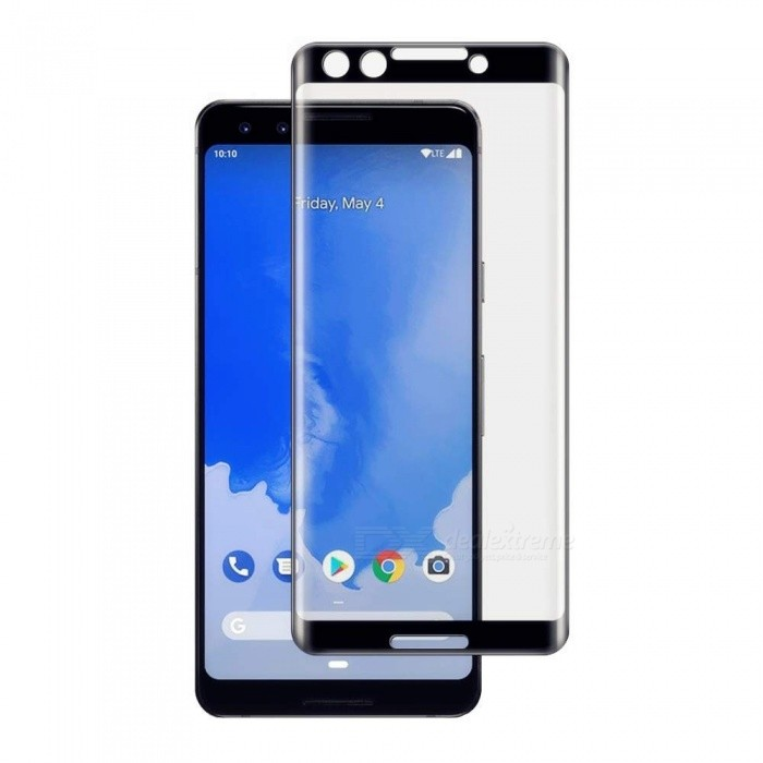 Naxtop 3D Arc Full Screen Tempered Glass Protector for Google Pixel 3