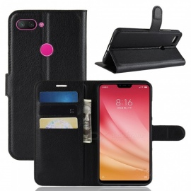 Naxtop Phone Wallet for Xiaomi Mi 8 Lite Full Body Flip Leather Holder Cover Case