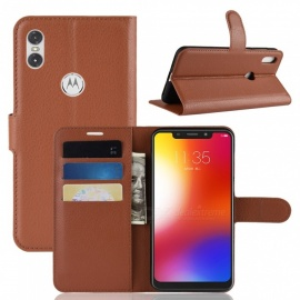 Naxtop Phone Wallet for Motorola One / P30 Play Full Body Flip Leather Holder Cover Case