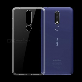 Dayspirit Ultra-Thin Protective TPU Back Case for Nokia 3.1 Plus - Transparent