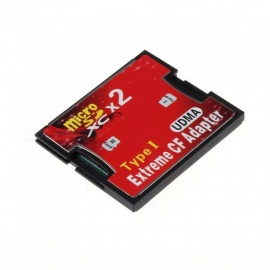 KELIMA Dual Slot Micro SD SDHC SDXC TF to CF Adapter Micro SD to Extreme Compact Flash Type I Card Converter
