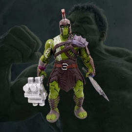 Avengers Marvel Thor 3 Ragnarok Hands Moveable War Hammer Battle Axe Gladiator Hulk Action Figure Model Toy 20cm Green