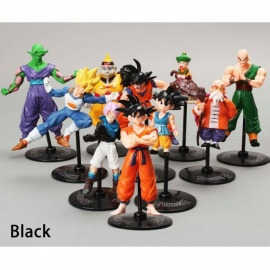10PCS Japan Anime Dragon Ball Sun Wukong Magic Flute Kame-Sennin With Holder Doll For Boys Children Model Toys Gifts White