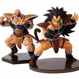 Mini 2-in-1 Raditz,Nappa Anime Figure, Classic DRAGON BALL Cartoon Action Figures Chocolate