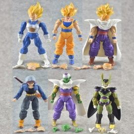 1 PC Mini Super Saiyan Jin Anime Figure, Classic Dragon Ball Cartoon Action Figures