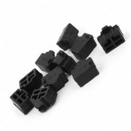 RJ45 Network Cable Silicone Dust Plug / Black (10PCS)