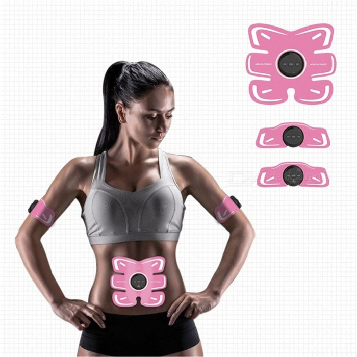 Electric Abdominal Muscle Stimulator EMS Body Trainer Device Intensive Training Weight Loss Slimming Massager Machine Smart