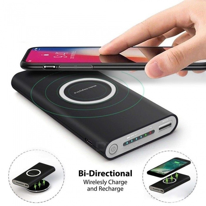 26a27f01bf Measy Qi Wireless Charger 10000mAh Portable USB Power Bank Wireless  Charging Pad for iPhone X 8