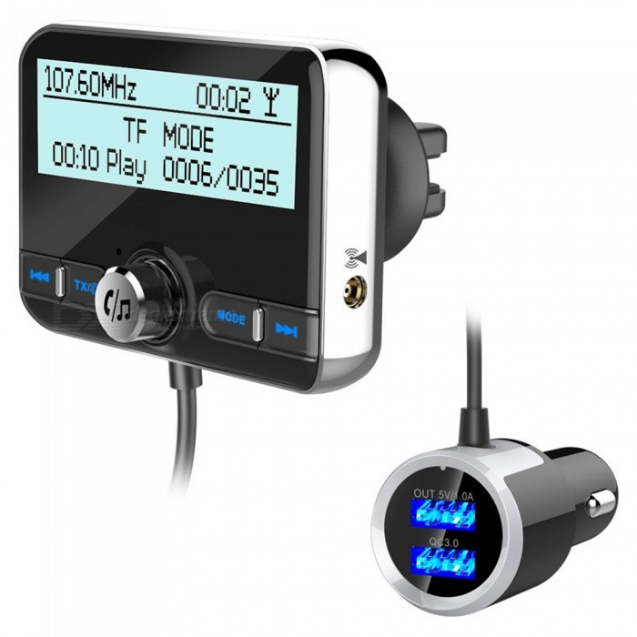 Quelima Multi-Function Car Digital Radio DAB002 Automatic Hands-Free Stereo Bluetooth Car FM Transmitter