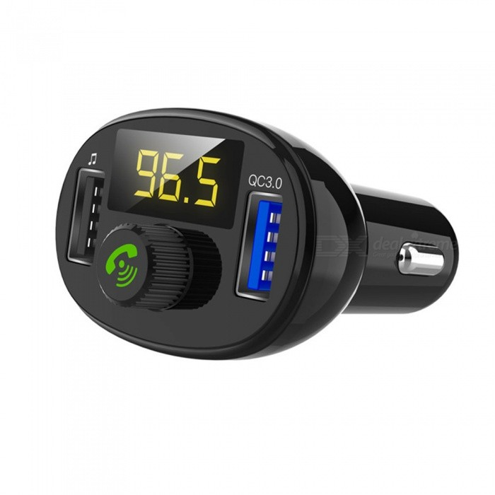 BT23 Car MP3 Audio Player Bluetooth Car Kit FM Transmitter Handsfree Calling QC3.0 Dual USB Car Charger Phone Charger